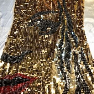 Christina Love Sequined Face Dress Large